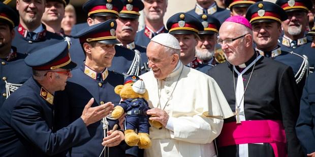 POPE FRANCIS,TEDDY BEAR