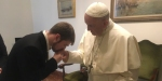 POPE FRANCIS MEETS THOMAS EVANS