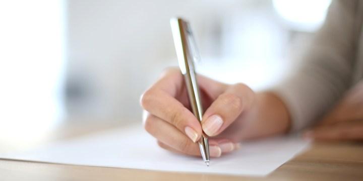 WOMAN,HAND,WRITING