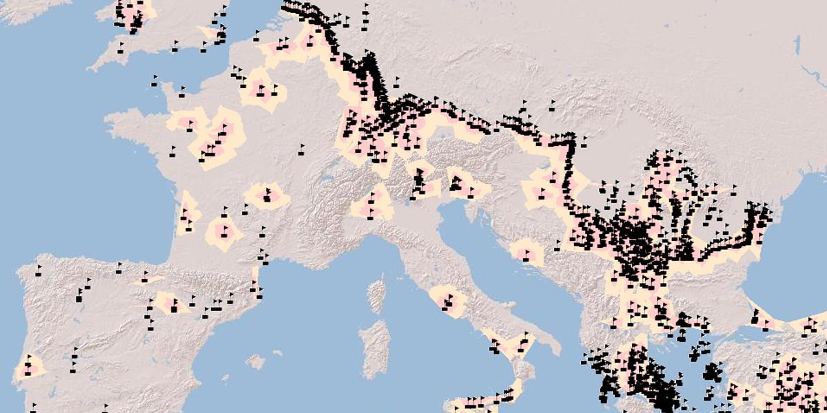 ANCIENT,ROADS,DIGITIZED,MAP