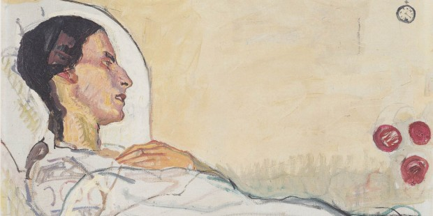 WOMAN,HOSPITAL BED