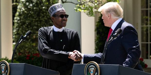 PRESIDENT TRUMP,NIGERIAN PRESIDENT