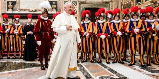 SWISS GUARD,POPE FRANCIS