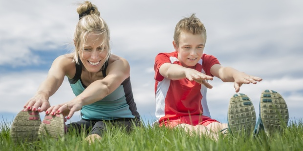 MOTHER,SON,EXERCISE