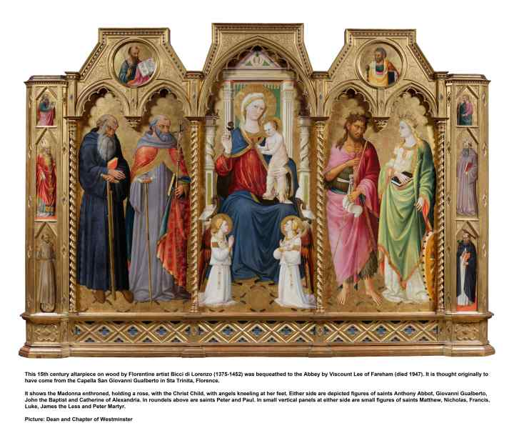 WESTMINSTER ABBEY; ALTARPIECE; BICCI; FLORENCE