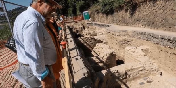 Roman dig site
