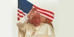 POPE,JOHN PAUL II,US VISIT,FLAG