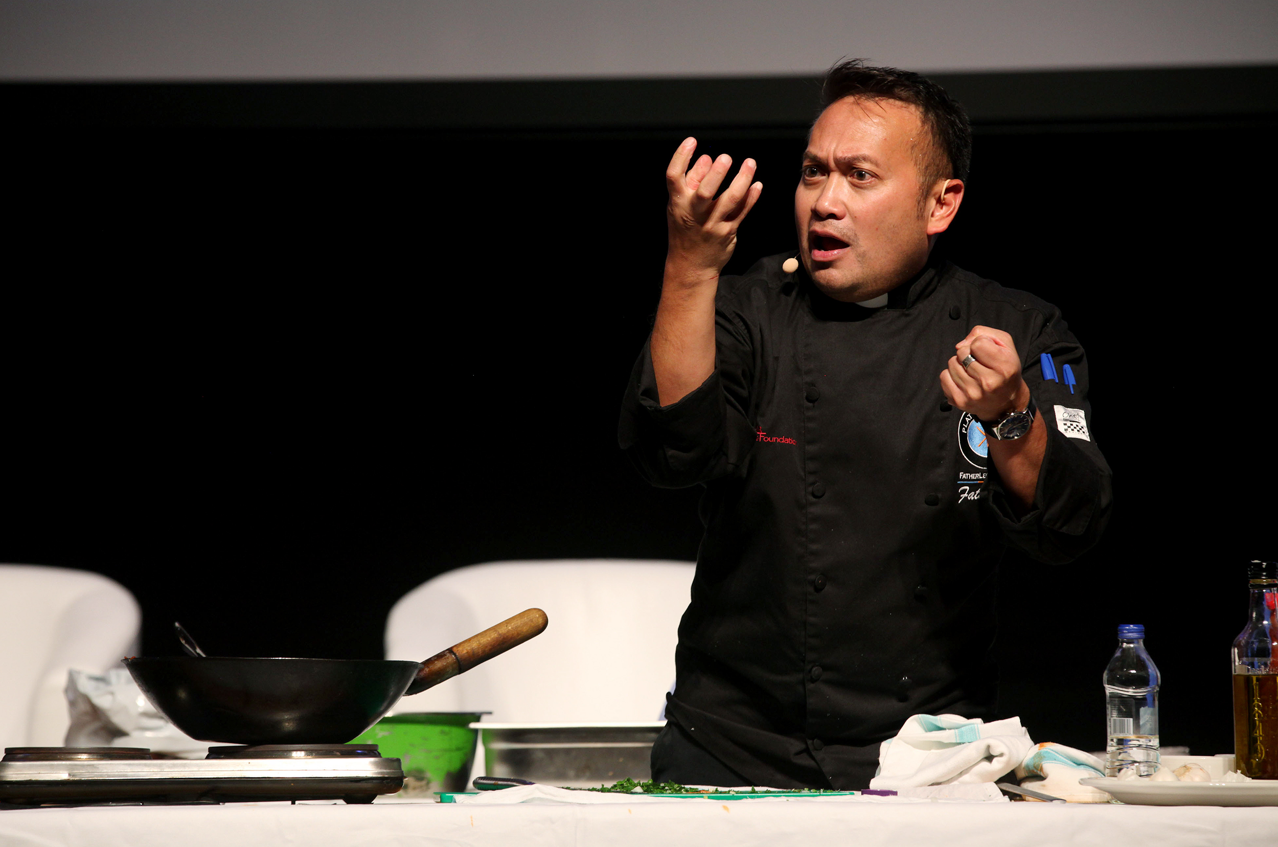 FATHER LEO COOKING