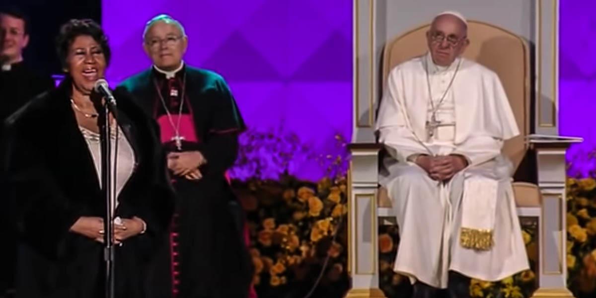 ARETHA FRANKLIN,POPE FRANCIS
