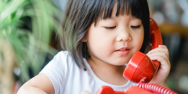 CHILD ON PHONE