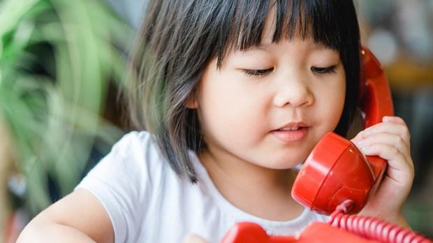 CHILD ON PHONE