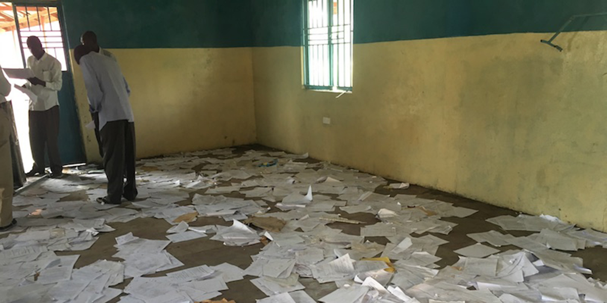 SCATTERED EXAM PAPERS
