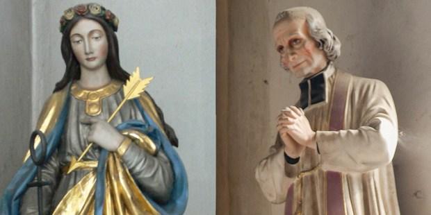 ST PHILOMENA,ST JOHN MARIE VIANNEY
