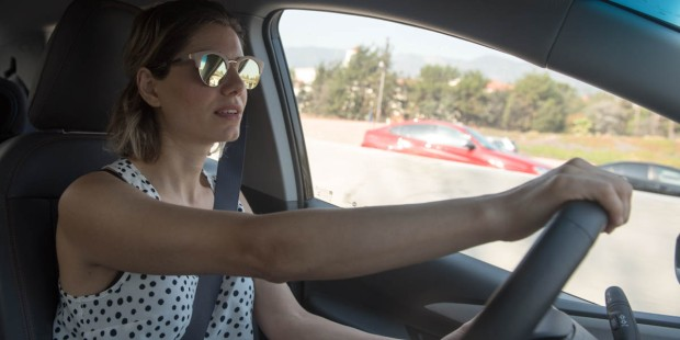 MOM DRIVING VAN