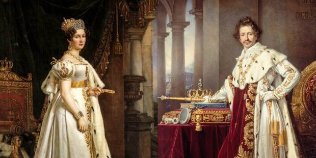 KING LUDWIG,QUEEN THERESE OF SAXE