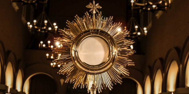 What is that gold container that holds the Blessed Sacrament during  Adoration?