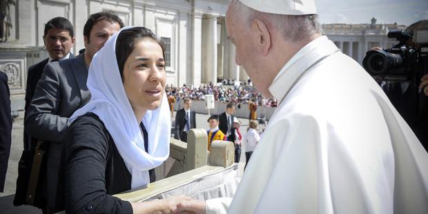 POPE FRANCIS,NADIA MURAD