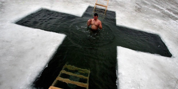 ICE,CROSS,EPIPHANY,RUSSIA