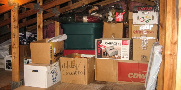 HOLIDAY BOXES, ATTIC