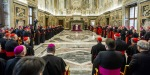 POPE FRANCIS GREETS THE ROMAN CURIA