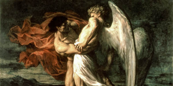 JACOB WRESTLING AN ANGEL