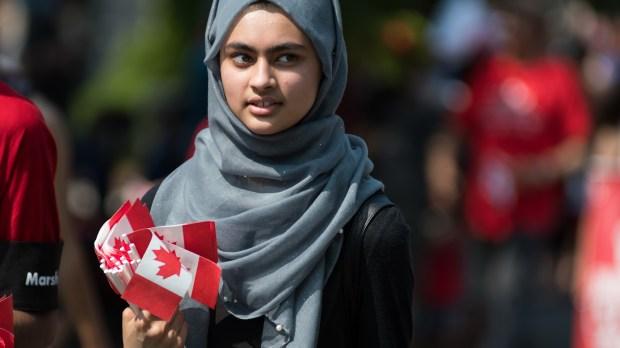 CANADA; HEAD SCARF