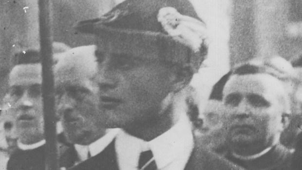 Foto poco conosciuta di Pier Giorgio Frassati, 1924