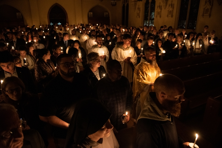 EASTER VIGIL;FIRE;FRANCISCAN FRIARS OF THE RENEWAL;CFR