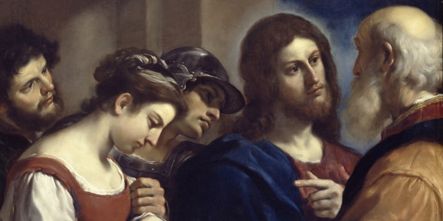 CHRIST AND THE WOMAN TAKEN IN FOR ADULTERY