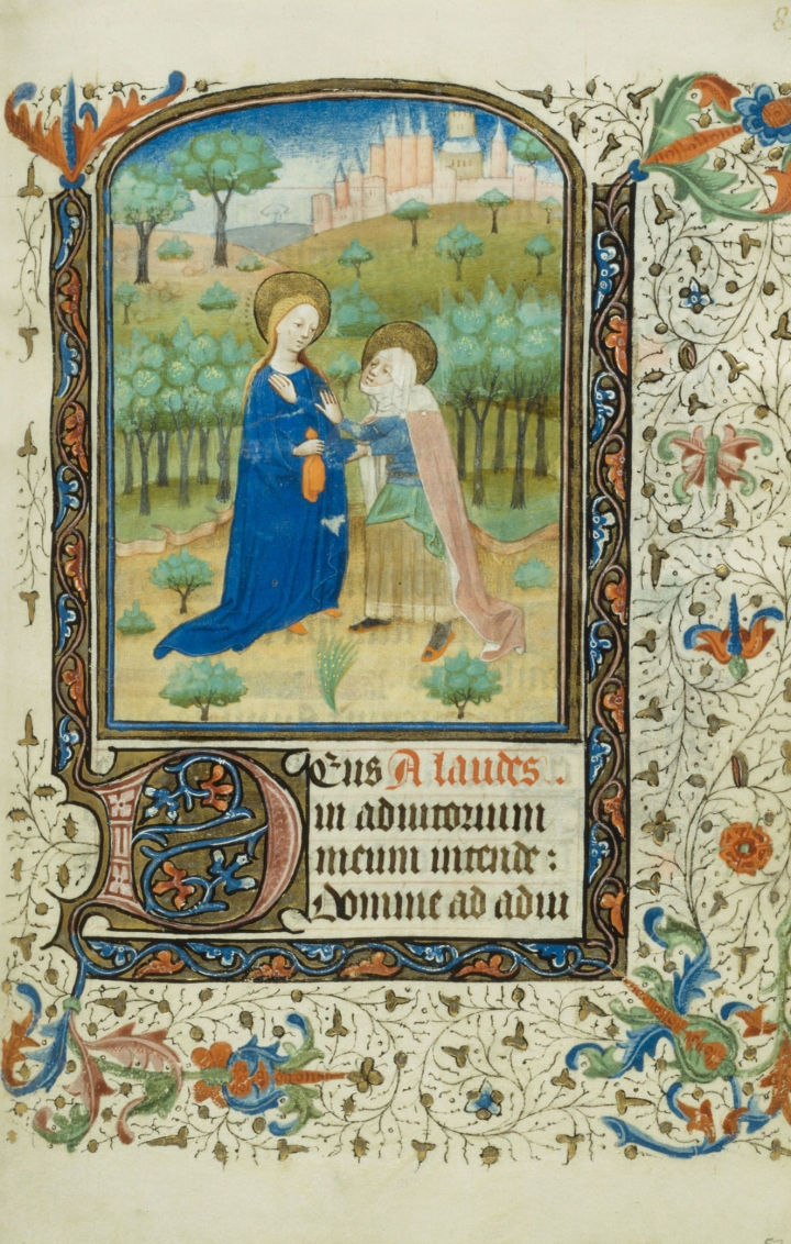 BOOK OF HOURS; VISITATION