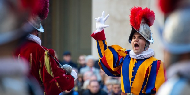 Beauty and strength: The swearing-in of the Swiss Guards is something to behold