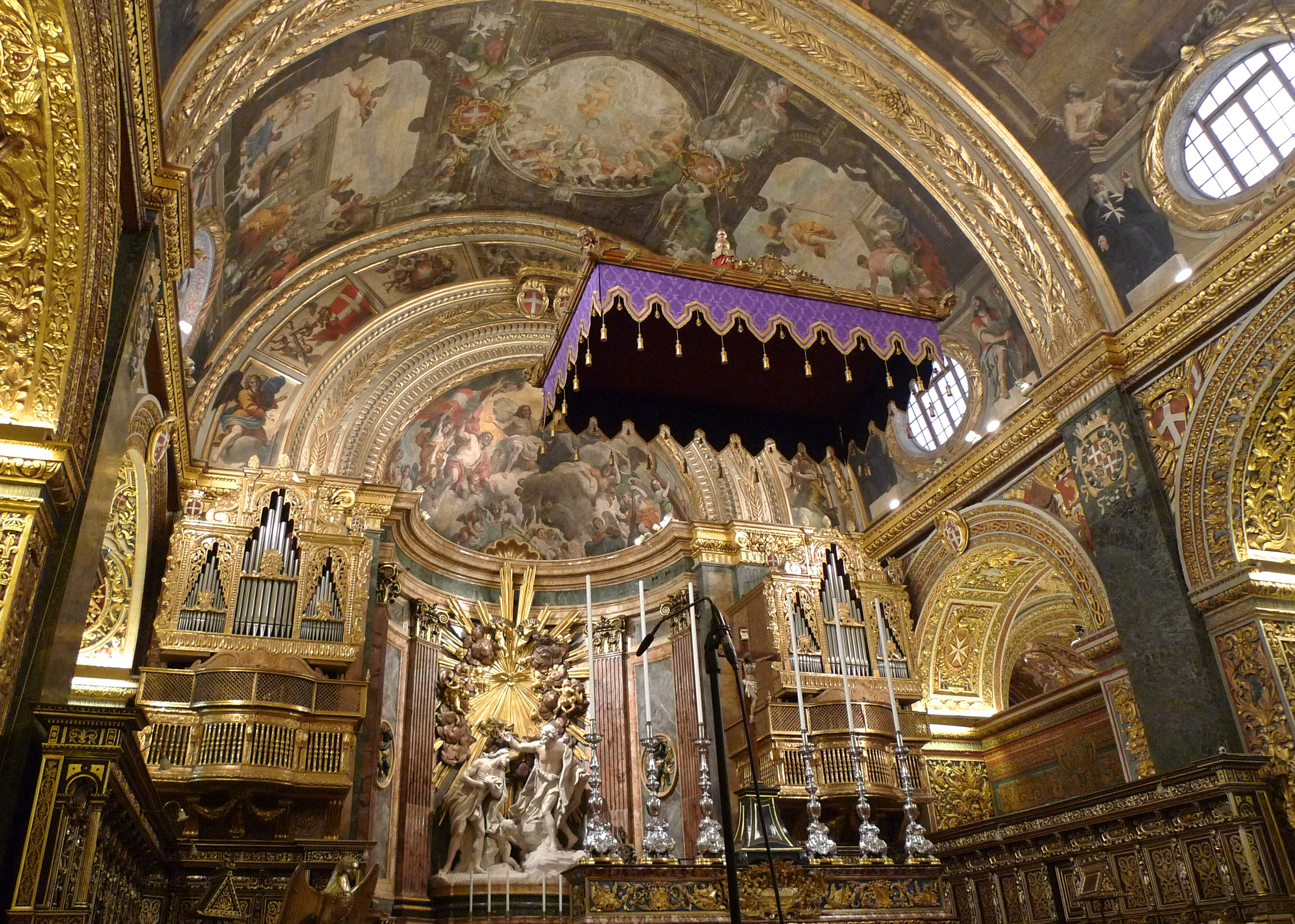 Malta; Altar Canopy, St. John's Co-Cathedral, Valletta