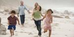 FAMILY, RUNNING, BEACH