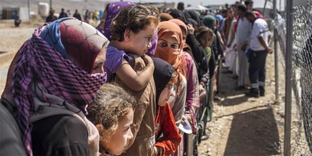 camp de réfugiés en Irak