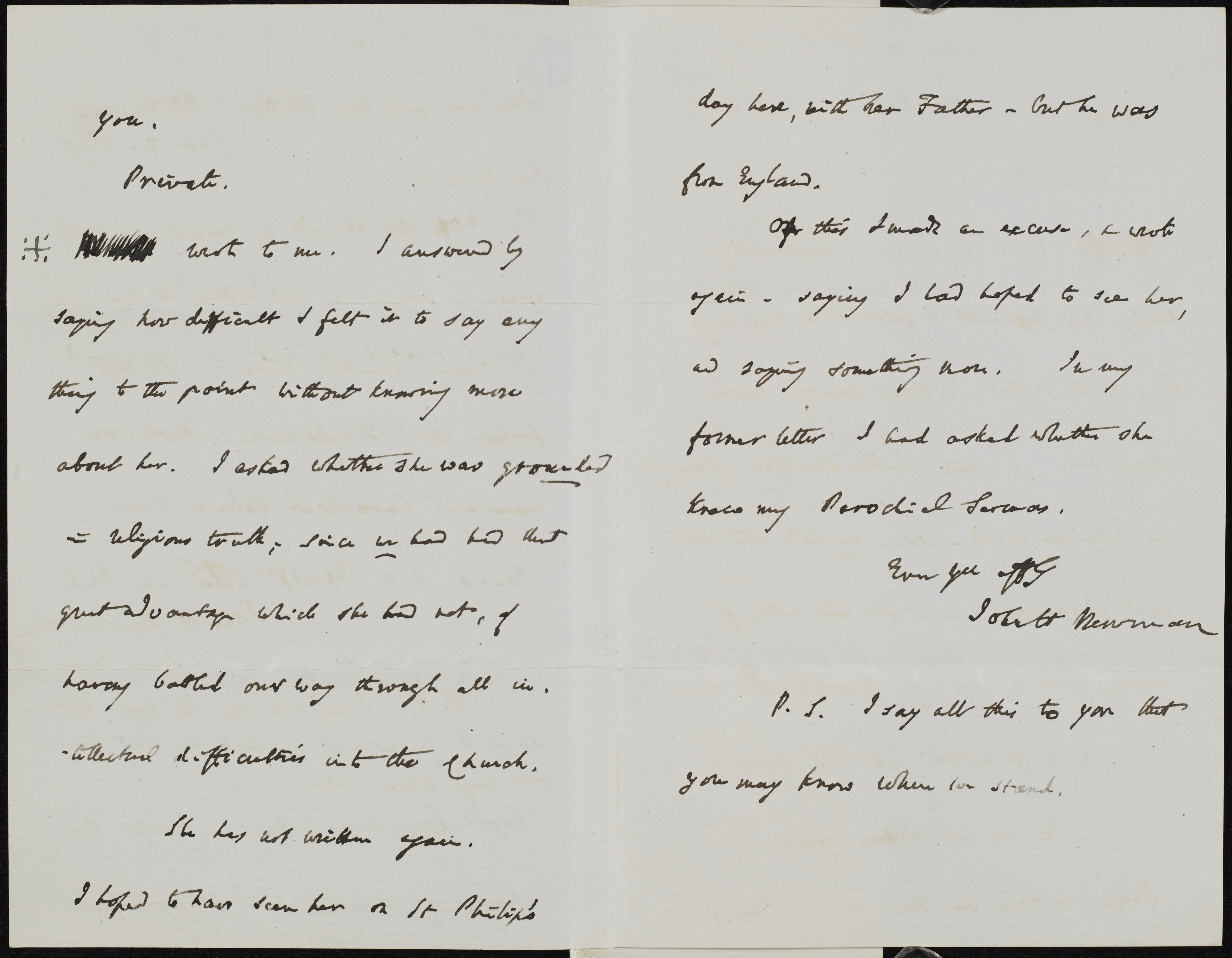 NEWMAN LETTER ENGLISH