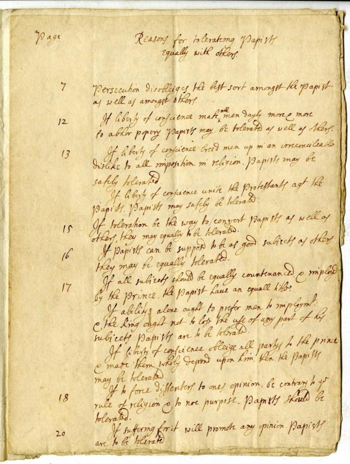 John Locke Manuscropt