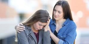 Worried - Woman - Comforting - Sad - Friend