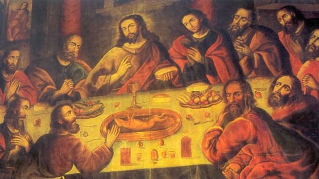 CUSCO CATHEDRAL; PERU; ZAPATA; LAST SUPPER