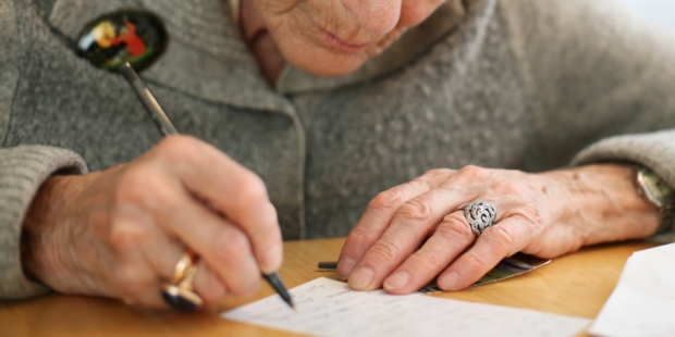OLD WOMAN, WRITING
