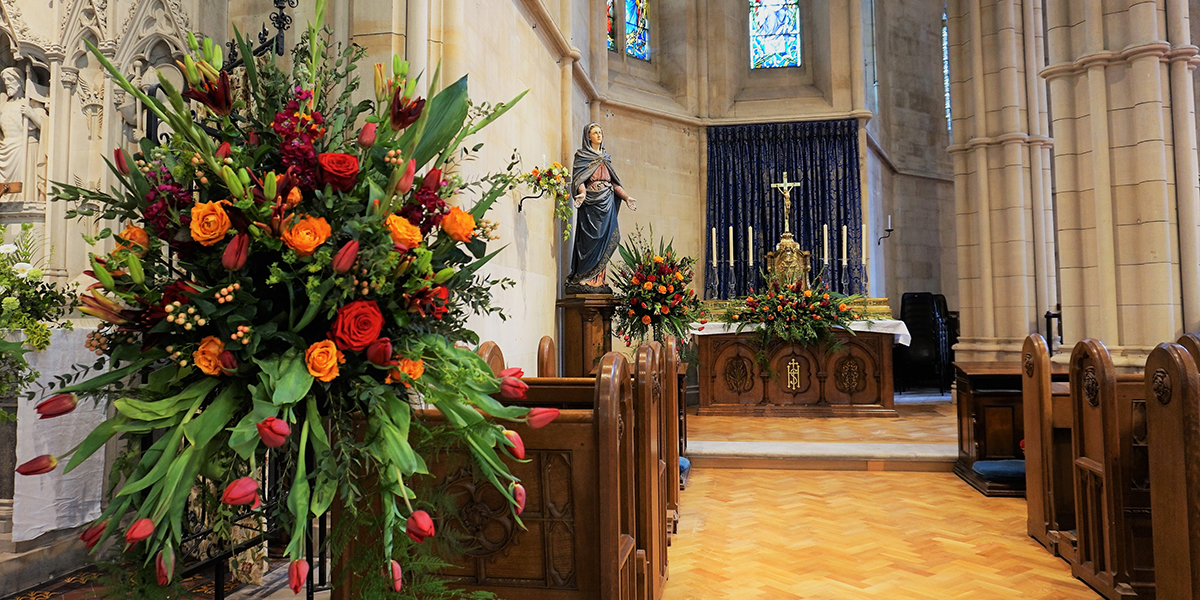 Flowers Have An Important Role At Mass
