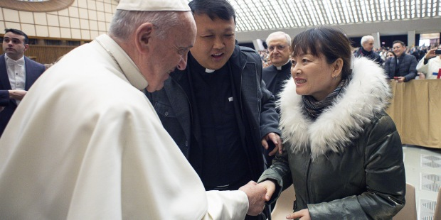 Pope Francis Chinese woman