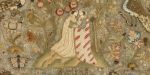 TEXTILE PANEL WITH EMBRACING FIGURES