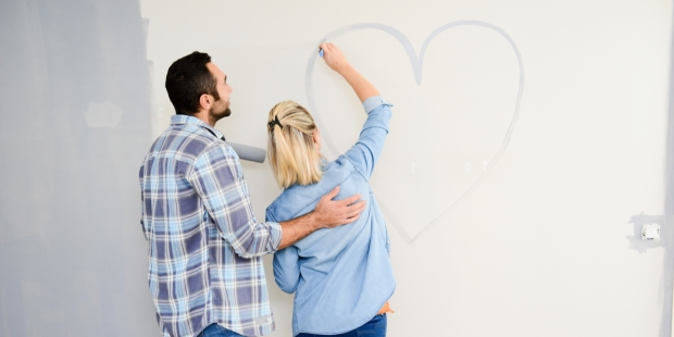 Couple, Drawing, Heart,