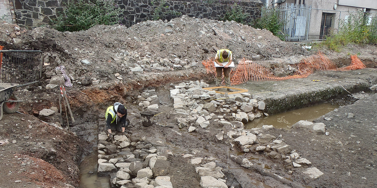 Uncovering the house of the Blackfriars in Stirling