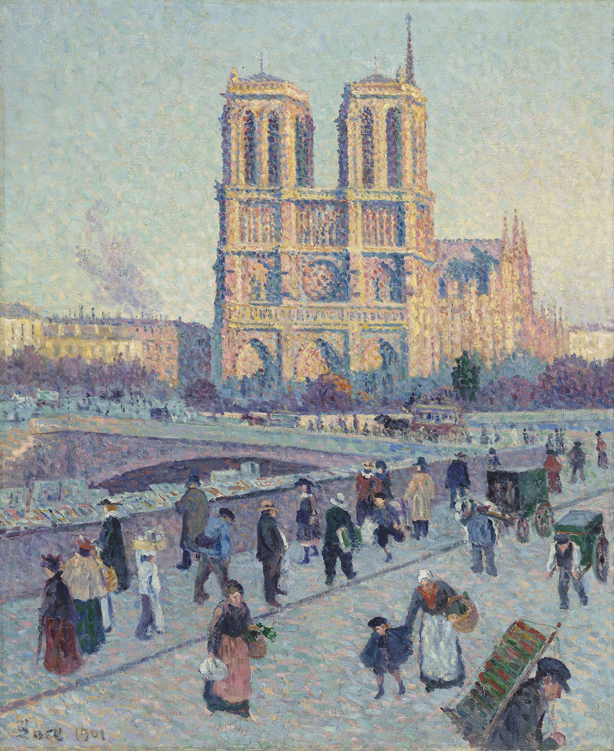 Maximilien Luce's The Quai Saint-Michel and Notre-Dame (1901)