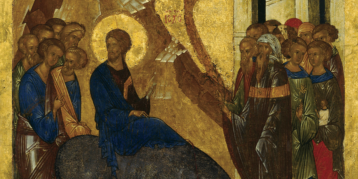 Meditate on Christ's Triumphal Entry into Jerusalem, with a 15th century  Icon