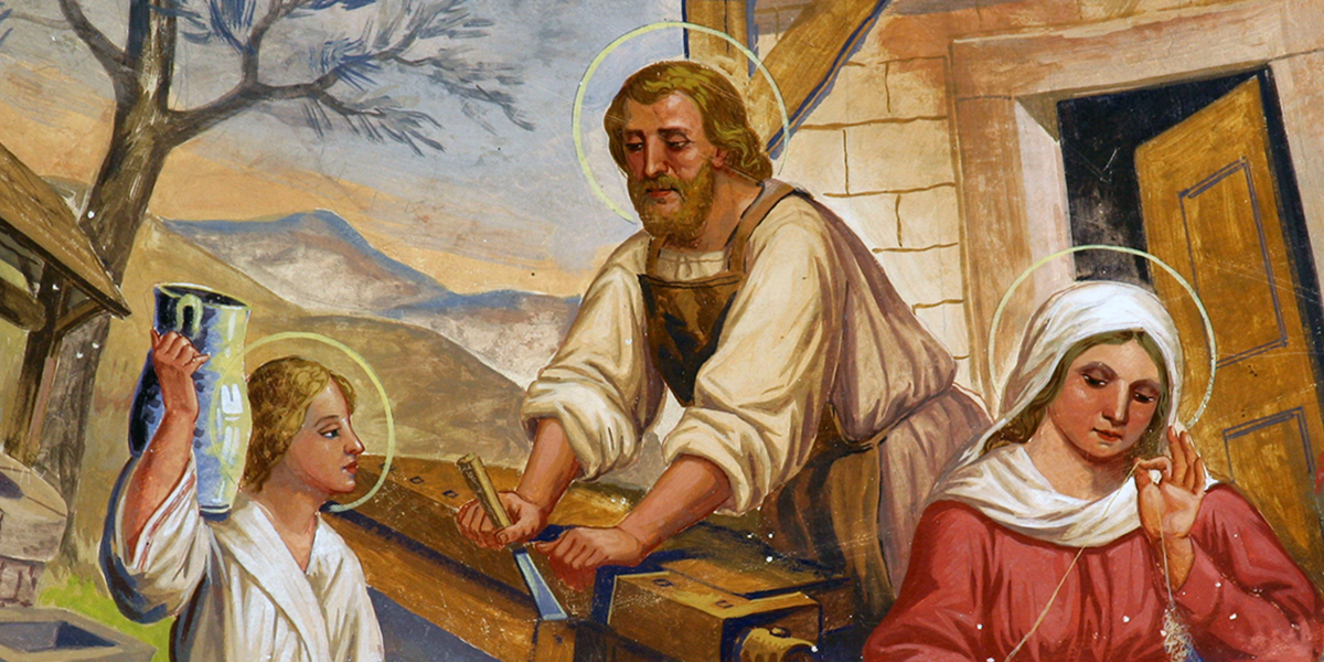 Why St. Joseph is especially our patron when we're working from home
