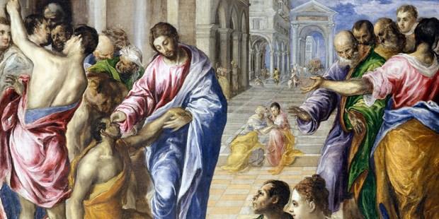 Healing the Man Born Blind - El Greco