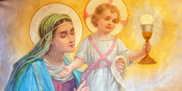 Prayer to Mary while adoring Jesus in the Eucharist