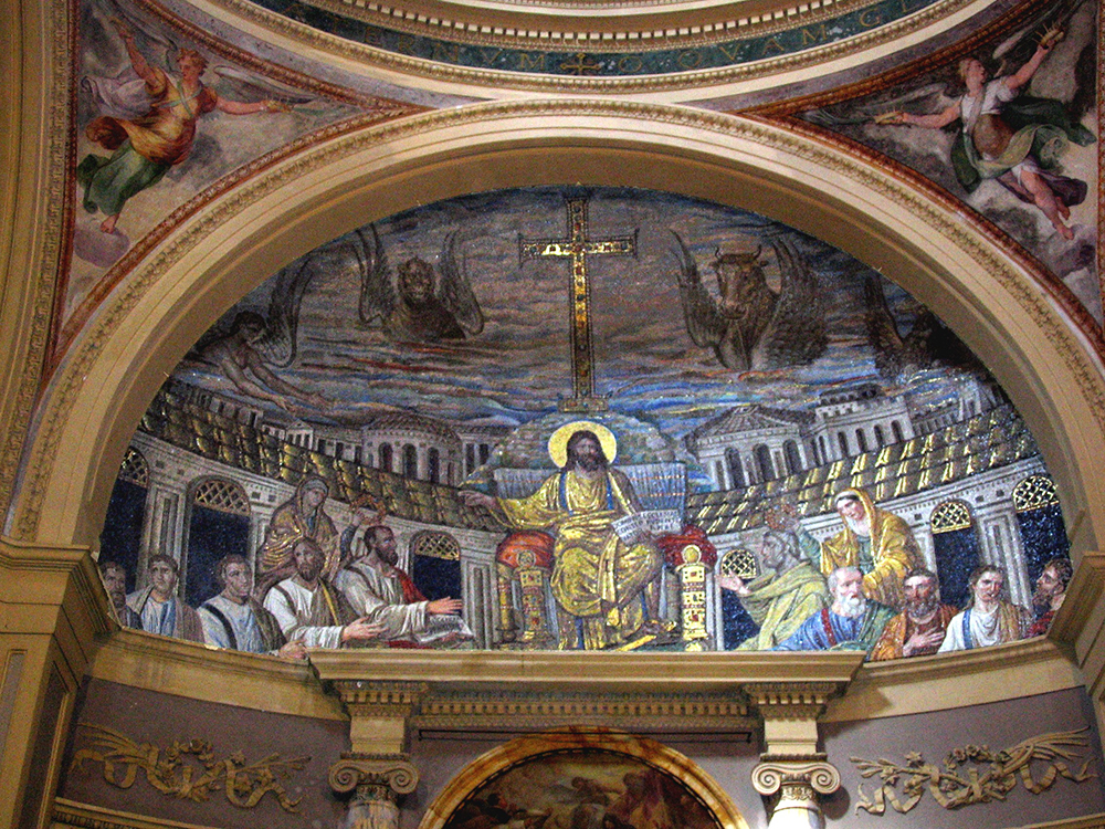 Christ enthroned among the Apostles